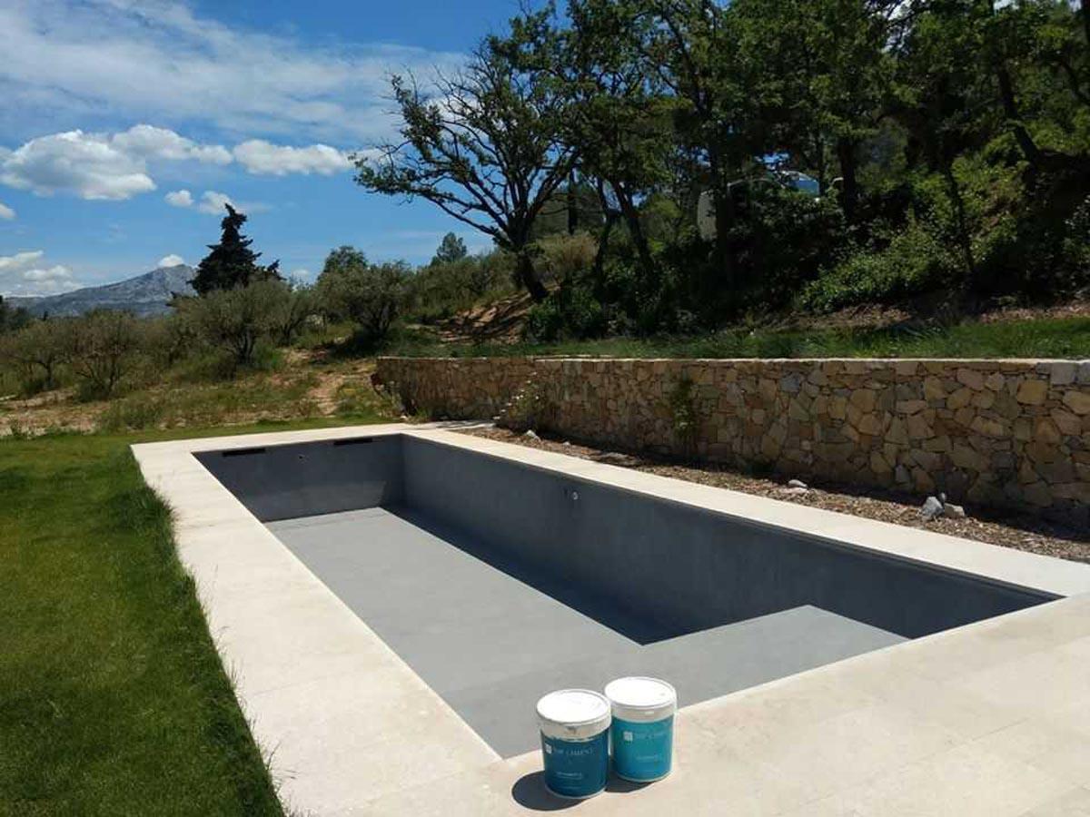 Construcción de piscinas de Microcemento